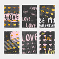 Set design modern hipster cards, label, decor, banner with the decor of gold, grunge stains, texture and ink. The Royalty Free Stock Photo
