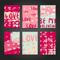 Set design modern hipster cards, label, decor, banner with the decor of pink, grunge stains, texture and ink. The Royalty Free Stock Photo