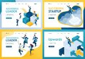 Set design web page templates of successful business. Modern illustration concepts for website and mobile website development