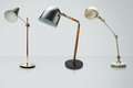 Set of  desk lamps isolated on white, with clipping path Royalty Free Stock Photo