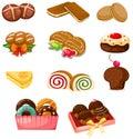 Set of dessert