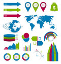 Set detail infographic elements for design web site layout illustration Royalty Free Stock Photo