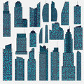 Set of detailed skyscraper vector Stock Images
