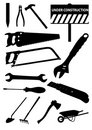 Set of detailed tools isolated Royalty Free Stock Image