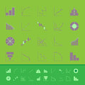 Set of diagram and graph color icons stock Royalty Free Stock Image