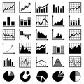Set of diagrams and graphs vector Stock Photography