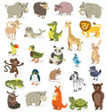 Set of different animals on a white background. vector illustrat