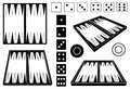 Set of different backgammon boards Royalty Free Stock Photo