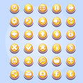 Set of different buttons for computer games Valentine's Day Royalty Free Stock Photo