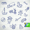 Set of different cartoon vector toys Royalty Free Stock Photo
