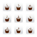 Set of different Coffee icons Royalty Free Stock Image