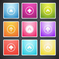 Set of different colorful arrows buttons vector Stock Photo