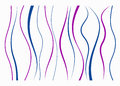 Set of different curved lines.