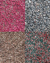A set of the different decorative crushed stones Stock Photography