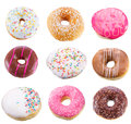 Set with different donuts Royalty Free Stock Photo