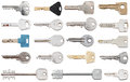 Set of different door keys Royalty Free Stock Photography