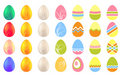 Set of different easter eggs Stock Image