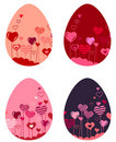Set of different easter eggs Stock Photography