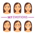 Set of different emotions
