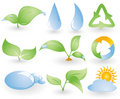 Set of different environmental icons Royalty Free Stock Photo