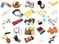 Set from different everyday items Royalty Free Stock Images