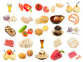 Set from different food items Stock Photo