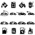 Set of different fuel vector icons illustration Stock Photos
