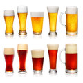 Set of different glasses of beer Royalty Free Stock Photo