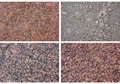 Set of different granite / marble texture Stock Photography