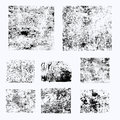 Set of different grunge vector elements Royalty Free Stock Photo
