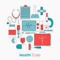 Set of different Health Care elements. Royalty Free Stock Photo