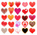 Set of different hearts Royalty Free Stock Photo