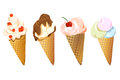 Set of different ice cream on a white background vector illustration Stock Images