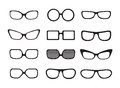 Set of different icons glasses Stock Images