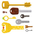 Set of different keys Stock Photography