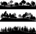 Set Of Different Landscape Wit...