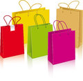Set of different paper bags Stock Images