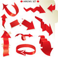 Set of different paper red arrows Royalty Free Stock Images