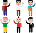 Set of different people, characters in vector Royalty Free Stock Images