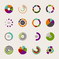 Set of different pie charts Royalty Free Stock Photo