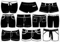 Set of different shorts isolated on white Stock Photo