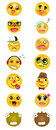 A set of different smileys Royalty Free Stock Photo
