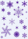 Set of different snowflakes Stock Image