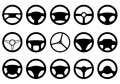 Set of different steering wheels Royalty Free Stock Photo