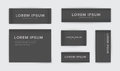 Set of different textile tags. Collection of narrow, wide, large, small, vertical, horizontal labels for clothes. Vector Royalty Free Stock Photo