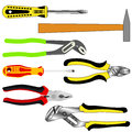 Set of different tools Stock Image
