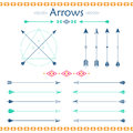 Set of different vector arrows Royalty Free Stock Photo