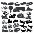 Set of different vehicles Royalty Free Stock Photos