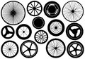 Set of different wheels isolated on white Royalty Free Stock Photography