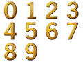 Set digit metallic Royalty Free Stock Photo
